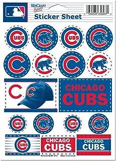 WinCraft MLB Chicago Cubs Vinyl Sticker Sheet, 5