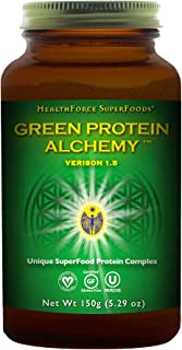 HealthForce SuperFoods Green Protein Alchemy, Magic Mint - 150 Grams - All-Natural, Plant-Based Protein Powder - Made from...