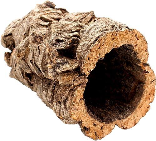 Gran tubo de corcho hecho de corteza de corcho puro, 20 cm de largo, 15 cm de alto, también ideal como decoración de ...