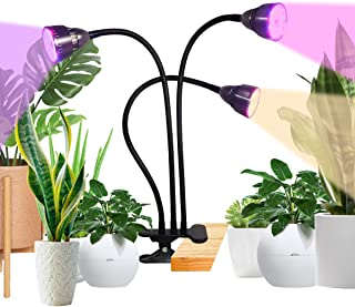 Grow Light,2020 Tri-Head 60W Full Spectrum Clip Plant Light for Indoor Plants Seedlings Succulents Micro-Greens,3 Modes & 10 Dimmable,Timing 3H/9H/12H