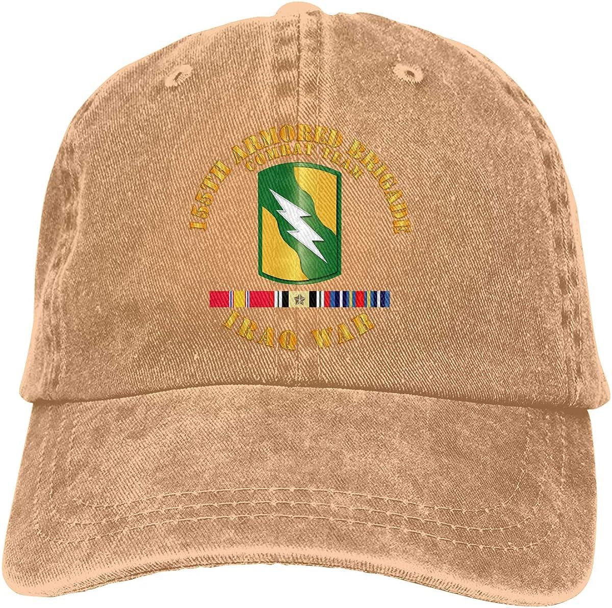 155th Armored BCT Iraq War SVC Ribbons Adjustable Baseball Caps Denim Hats Cowboy Sport Outdoor