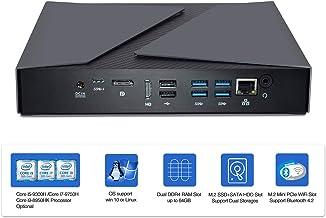 HYSTOU Gaming pc Mini pc Windows 10,Intel Core i9-8950HK,NVIDIAN GTX1650,64GB DDR4+256GB SSD+1T HDD,Doble Ventilador,HDMI DP USB*8 Type C Carcasa de Aluminio Pantalla 4K,WiFi Bluetooth