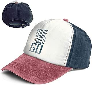 QZDLq Fashion Vintage Hat Eddie Aikau Would GO Adjustable Dad Hat Baseball Cowboy Cap