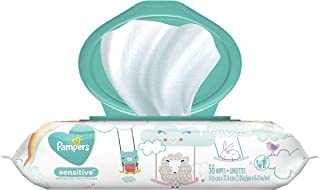 Pampers Sensitive Wipes Travel Pack 56 Count, (Pack of 8)