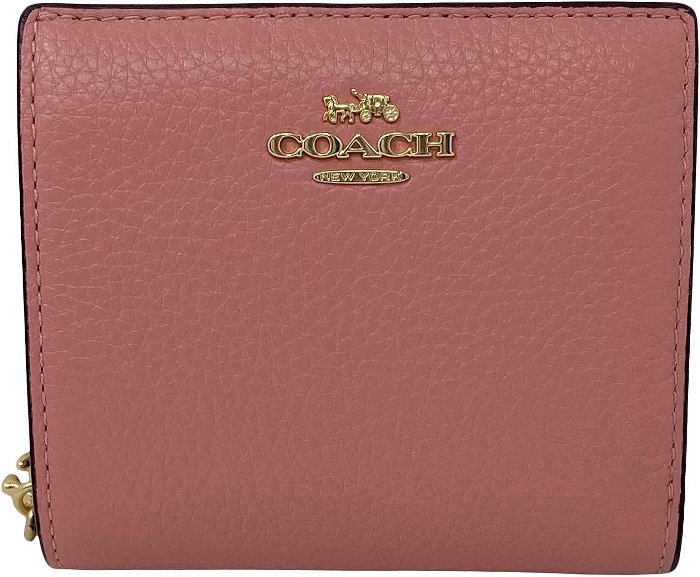 Coach Pebble Leather Snap Wallet Light Blush