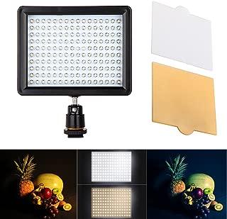 LED Video Light Andoer Panel de luz LED 160PCS 10.5W 1280LM 3200K-5600KDimmable for Canon Nikon Pentax DSLR Camera Video Camcorder