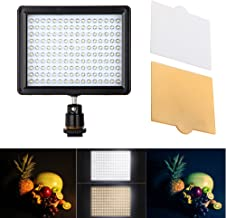 Andoer Dimmable 160LED Video Light on Camera Photo Lamp Panel for Canon, Nikon, Sony, Pentax and Other DSLR Cameras, 5600K (Battery Not Included)
