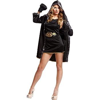 My Other Me Me-203345 Disfraz de boxeadora para mujer, color negro ...