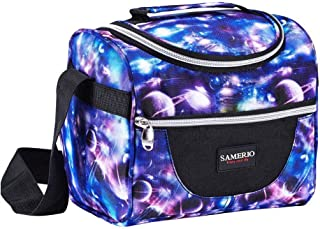 Insulated Lunch Bag for Kids Cooler Lunch Box For Work School Boys Girls Lunch Tote Bento Bags Smooth Zipper& Lightweight, Small Lunch Boxes for Children Student Adult with Adjustable Strap (Starry)