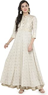 Varanga Off-White Gold Print Kurta with Ivory Printed Skirt KFF-VAR118184_PZ21033