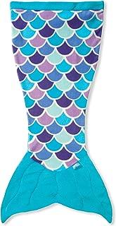 Fin Fun Mermaid Tail Blanket for Girls - Cuddle Tail Slumber Bag (Aqua Dream, Kids)