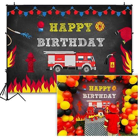 Firetruck Birthday Decorations Firetruck Birthday Party Fire Truck Birthday Firetruck Birthday Party Kit PRINTABLE Fire Truck Party