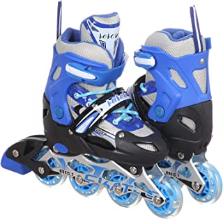 حذاء تزلج قماش شبكي برباط واربع عجلات من كاكالا سبورت - ازرق