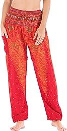 Pantalon Sarouel Femme Pantalon Bohême Imprimé Flo