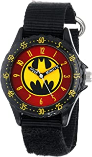 Batman Kids' BAT5036 Time-Teaching Batman Watch with Black Canvas Band