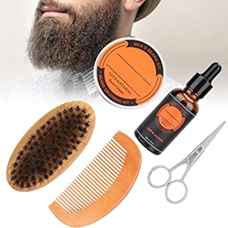 6本のひげの心配のセット、ひげの手入れをするキット、人のひげの心配のキット、人のひげの心配のキットとの最終的なひげの心配のキット香油+髭オイル+櫛+ブラシ+はさみ