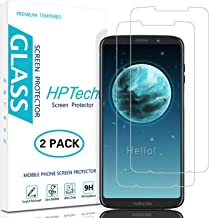 HPTech Moto Z3 Screen Protector - [2-Pack] Tempered Glass Film for Motorola Moto Z3/ Moto Z3 Play, Easy to Install with Lifetime Replacement Warranty