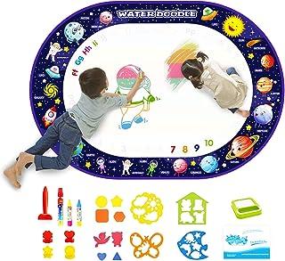 Joyfia Doodle Mat, Kids Water Drawing Mat, Large Mess-Free Coloring Mat, Water Painting Writing Board, Educational Birthda...