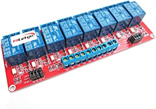 HiLetgo 12V 8 Channel Relay Module with OPTO-Isolated High and Low Level Trigger 8 Ways Relay Switch Module for Arduino