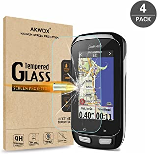 (Pack of 4) Tempered Glass Screen Protector for Garmin Edge 1000, Akwox 0.3mm 9H Hard Scratch-Resistant Screen Protector f...