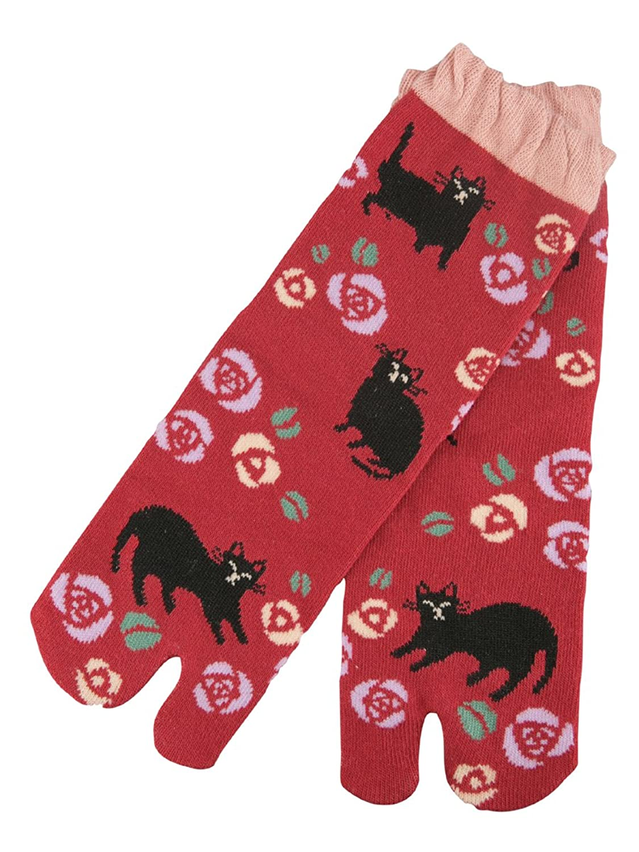 【京都くろちく】ねこらんまん 文化足袋●和柄足袋靴下(くつ下) じぇーむず