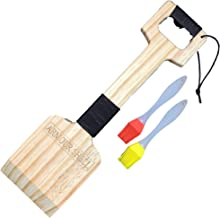 Armour Shell Cedar Wood Grill Scraper - BBQ Brush Scrubber Tools with Barbecue Grilling Brushes Accessories for Men. The Ultimate Gift for Your Husband, Father, Boss, That They Will Surely Love from