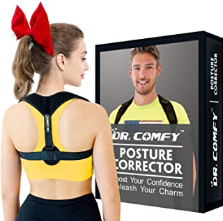 Posture Corrector for Women and Men, Adjustable Clavicle Upper Back Brace for Shoulder Support, Pain Relief for Neck, Back, Shoulders. Multiple Adjustable Sizes