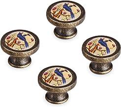 Cabinet Knobs, Felidio Rustic Drawer Knobs Dresser Pulls, Rubbed Bronze Ceramic Kitchen Cabinet Handles for Home Furniture...