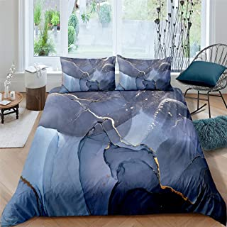 dsgsd 0Blue Blooming Creative King: 230 x 220 cm / 90.6 x 86.6 inches Printed Modern Simple Style Duvet Cover with Zipper ...
