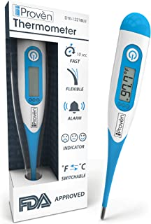 Baby Rectal Thermometer - Fast Readings in 10 Seconds - with Fever Detection and Fever Indication - DTR-1221BLU by iProven