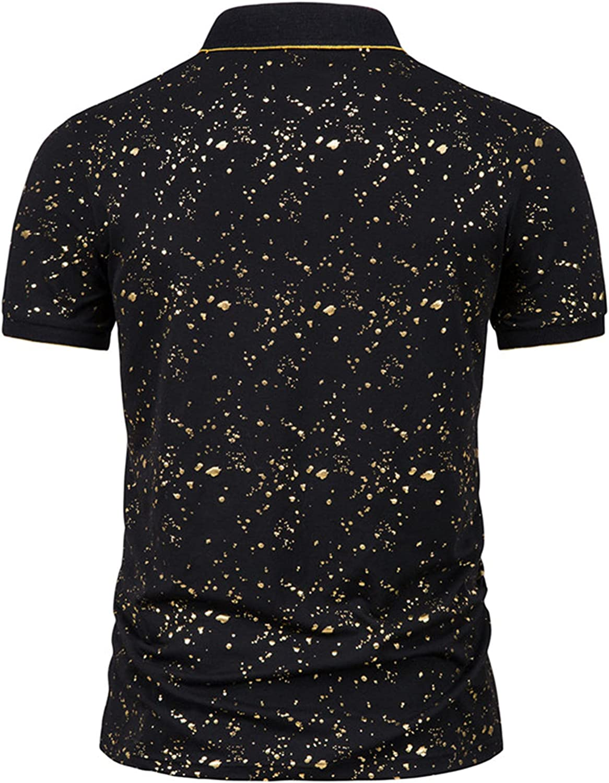 Men's Casual Slim Fit Short Sleeve Vintage Printed Button Down Urban Beach TropicalHawaiian Shirts Tops