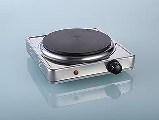 Plaque de Cuisson électrique simple table de cuisson de masse 1500W (1x Ø 18,5 cm), plaque de cuisson 5 niveaux de puissan...