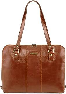 Tuscany Leather Ravenna Esclusiva borsa business per donna Miele