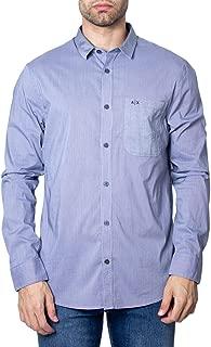 Luxury Fashion | Armani Exchange Mens 6GZC49ZNHHZBLUE Blue Shirt | Fall Winter 19