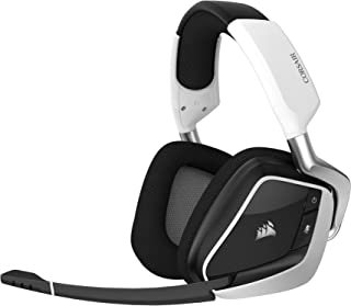 Corsair Gaming VOID RGB Elite Wireless Premium Gaming Headset with 7.1 Surround Sound, White (Renewed)