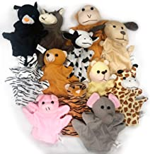 Kicko Animal Puppets 8.25 Inches - 12 Pieces - Assorted Hand Puppet Animals Includes Arms and Legs - Party Favors, Fun, Toy, Prize