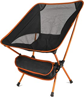 Outdoor Camping Chair Portable Ultralight Folding Superhard High Load Beach Hiking Picnic Seat,Orange