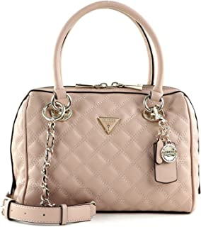 Guess Cessily Box Satchel Rosewood