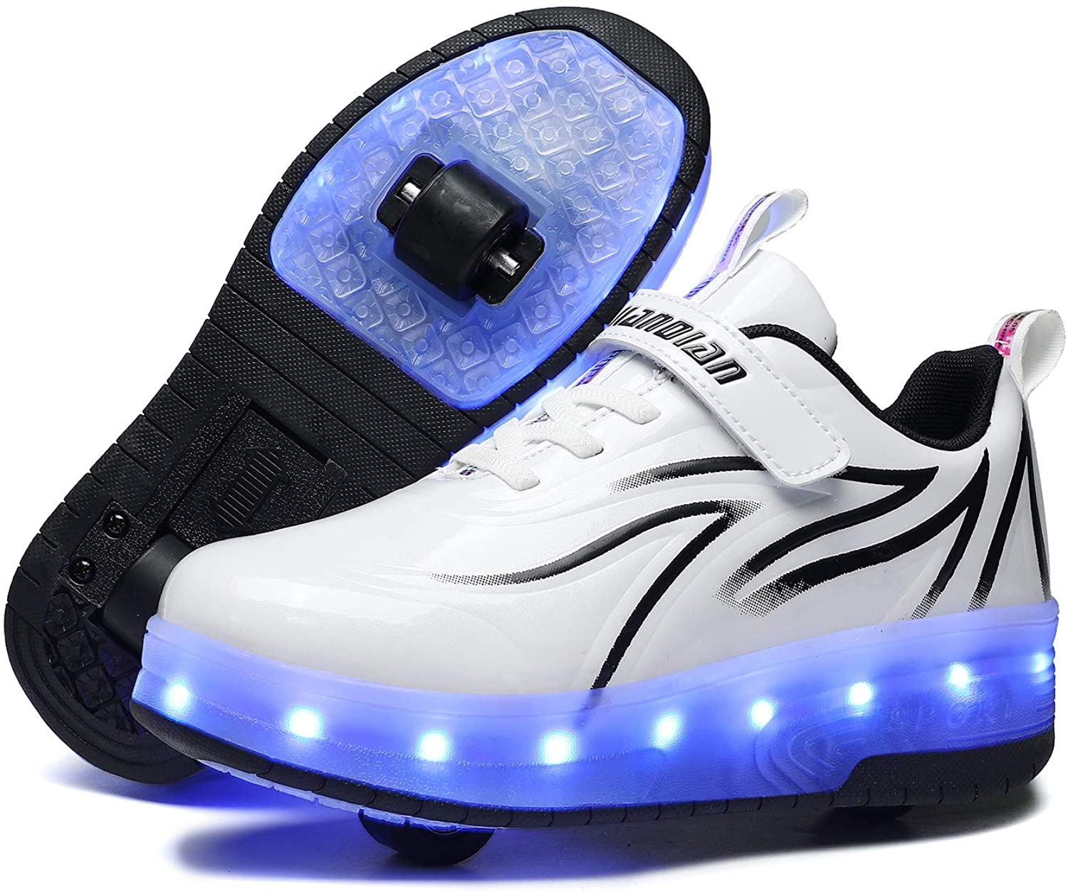 Ufatansy Popular Genuine Free Shipping USB Charging Shoes Roller Girls Shoe Skate