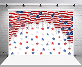 US Flag Balloons Photography Backdrop for Happy Retirement, 10x7FT, Military Retired Party Background, USA Stars Photo Background, Photo Booth Studio Props LSGE672