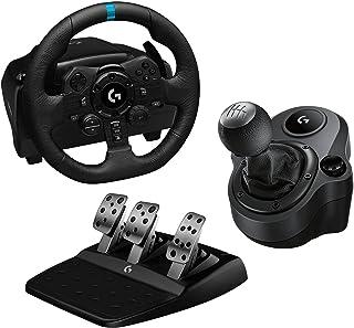 Logitech G923 Volante da Corsa e Pedali per Playstation PS4 e PC e Driving Force Leva di Cambio