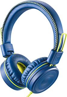 POWMEE M1 Kids Headphones Wired Headphone for Kids,Foldable Adjustable Stereo Tangle-Free,3.5MM Jack Wire Cord On-Ear Head...