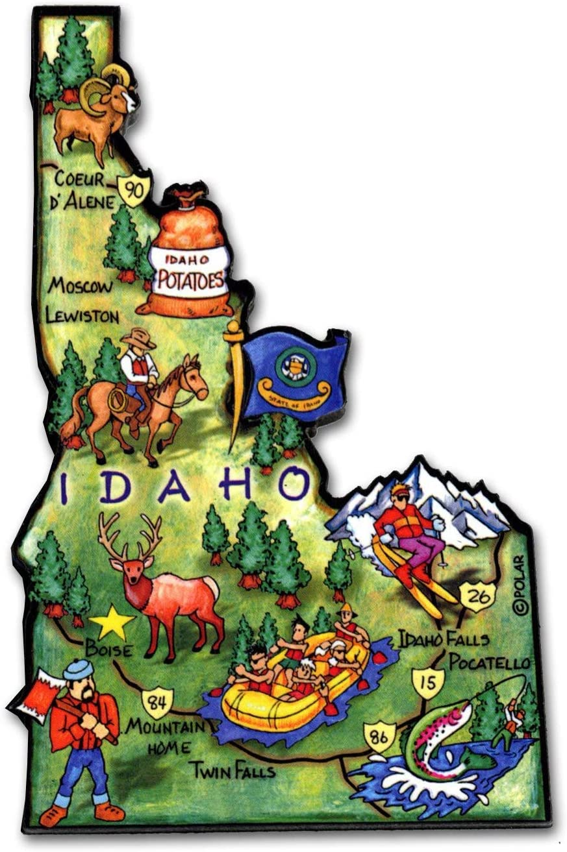 Boise Gifts Boise State Boise Idaho Magnet Boise Magnet Boise Refrigerator Magnet Idaho Gifts Idaho Art Idaho Magnet Boise