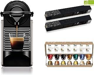 Krups Nespresso Pixie titane + 34 capsules Nespresso offertes, Machine à café 0,7 L, Café filtre Espresso, Cafetière, Caps...