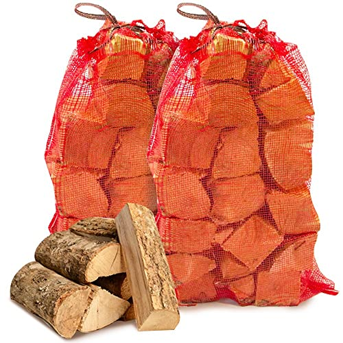 The Chemical Hut® 20kg Premium Seasoned Softwood Logs Firewood Fuel for Open Fire Stoves Log Burner - Comes with THE LOG HUT® White Woven Sack