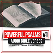 Powerful Psalms, Vol.1 Audio Bible Verses Scriptures for Sleep with Relaxing Piano Music