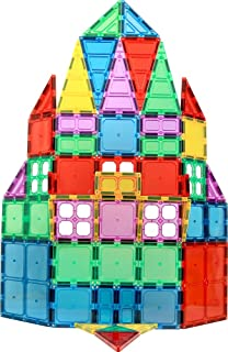 Magnet Build Magnet Tile Building Blocks Extra Strong Magnets & Super Durable 3D Tiles, Educational, Creative, Assorted Sh...