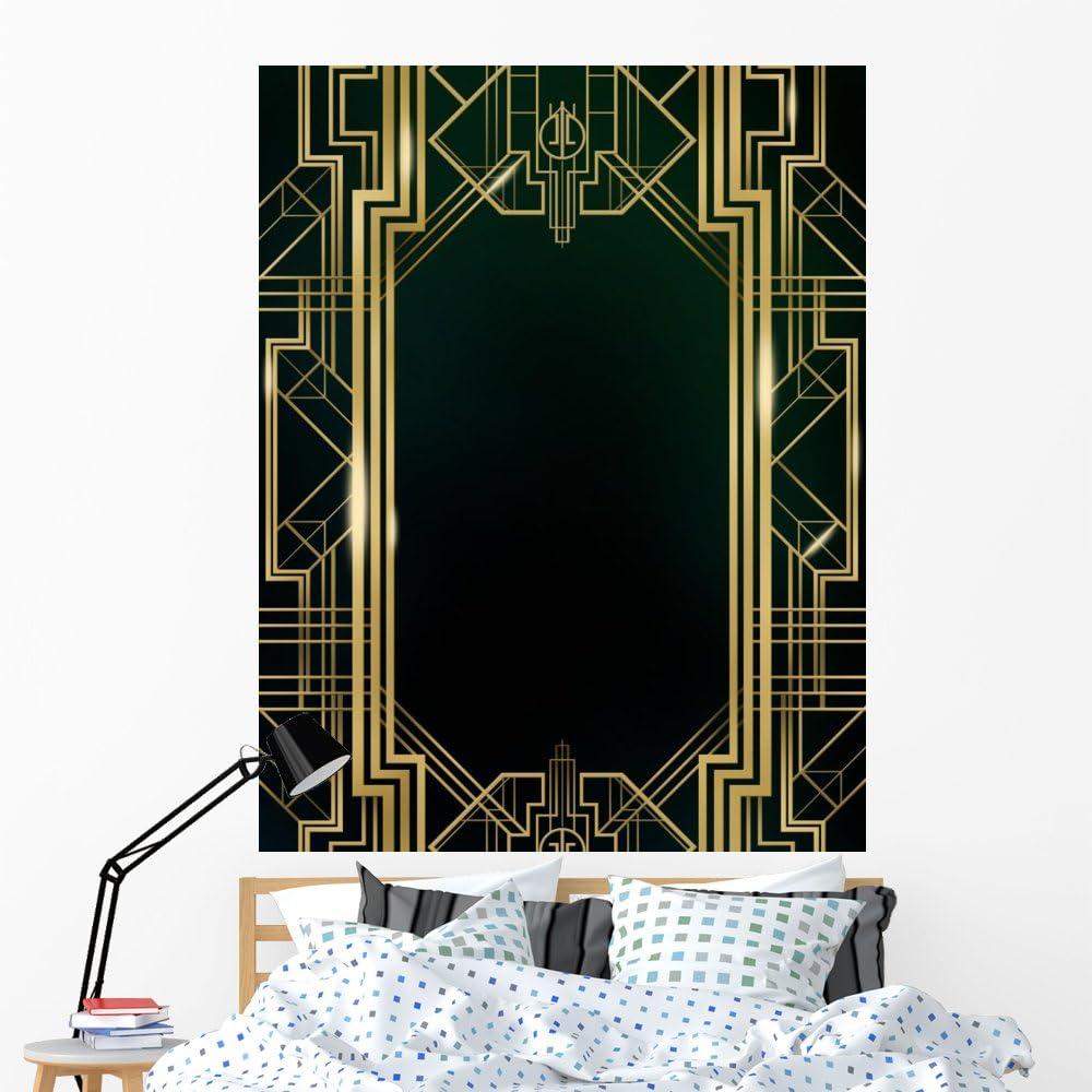 Wallmonkeys unisex Great Gatsby Art Deco Wall and Peel Viny Stick Mural Ranking TOP2
