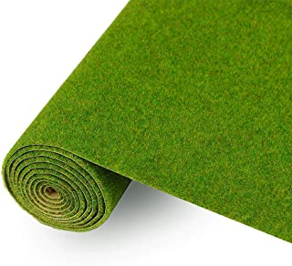 CP138 Artificial Model Grass Mat Trains Grass Green 40x100cm or 15.7''x 39'' for Decoration Kids Craft Scenery Model DIY