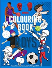 Sports Coloring Book For Boys : Fun and Entertaining Coloring Book for Kids Ages 4-8, 6-8, 8-10: 40 Unique Coloring Pages For Sports Filled Activity (Sports Coloring Books For Boys)